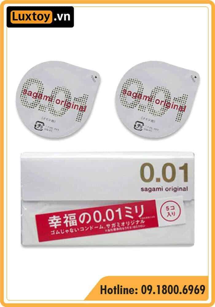 Bao cao su Sagami 0.01 Original