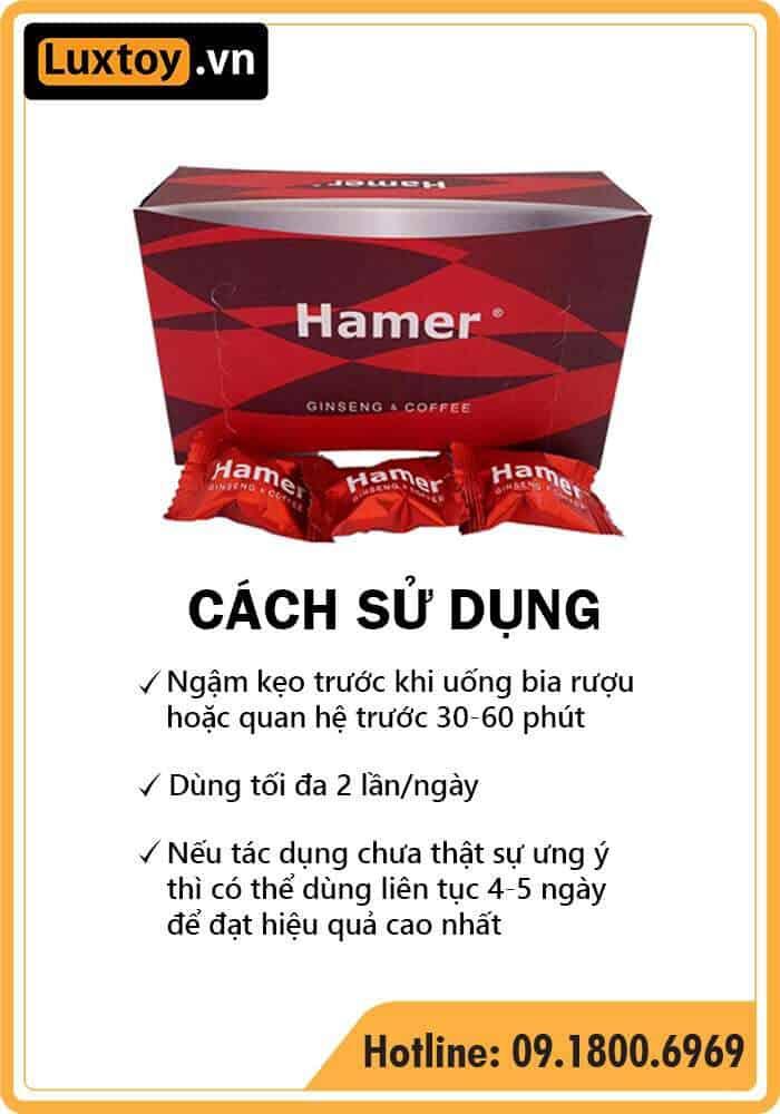 Cách sử dụng kẹo sâm Hamer