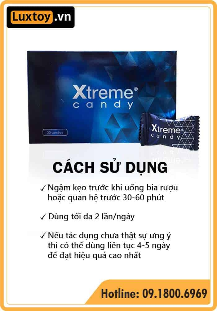 Cách sử dụng kẹo sâm Xtreme