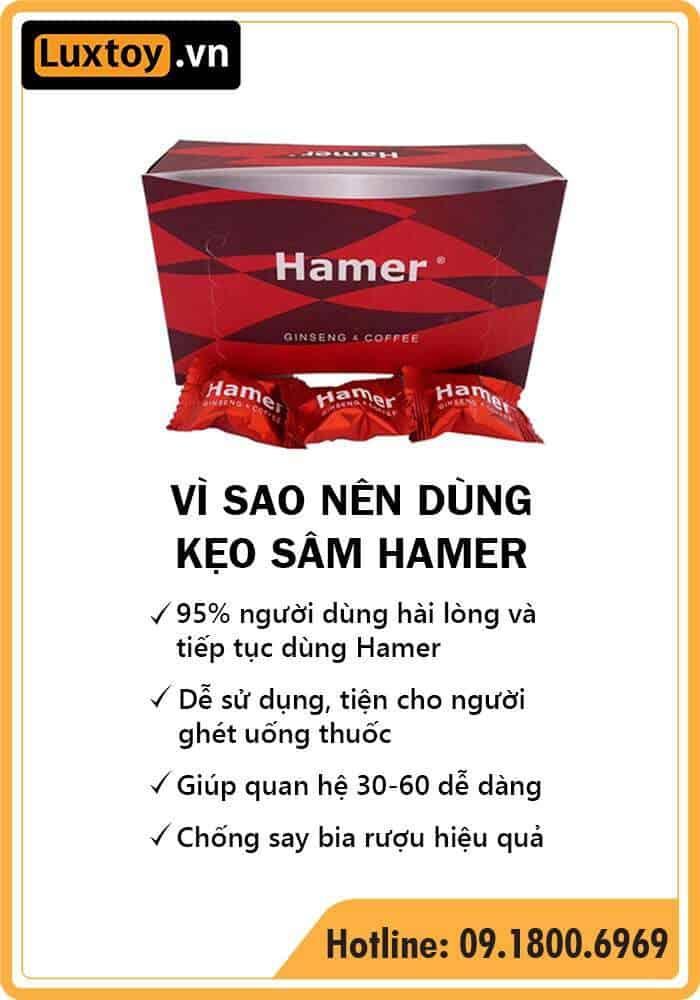Kẹo sâm Hamer có tốt không