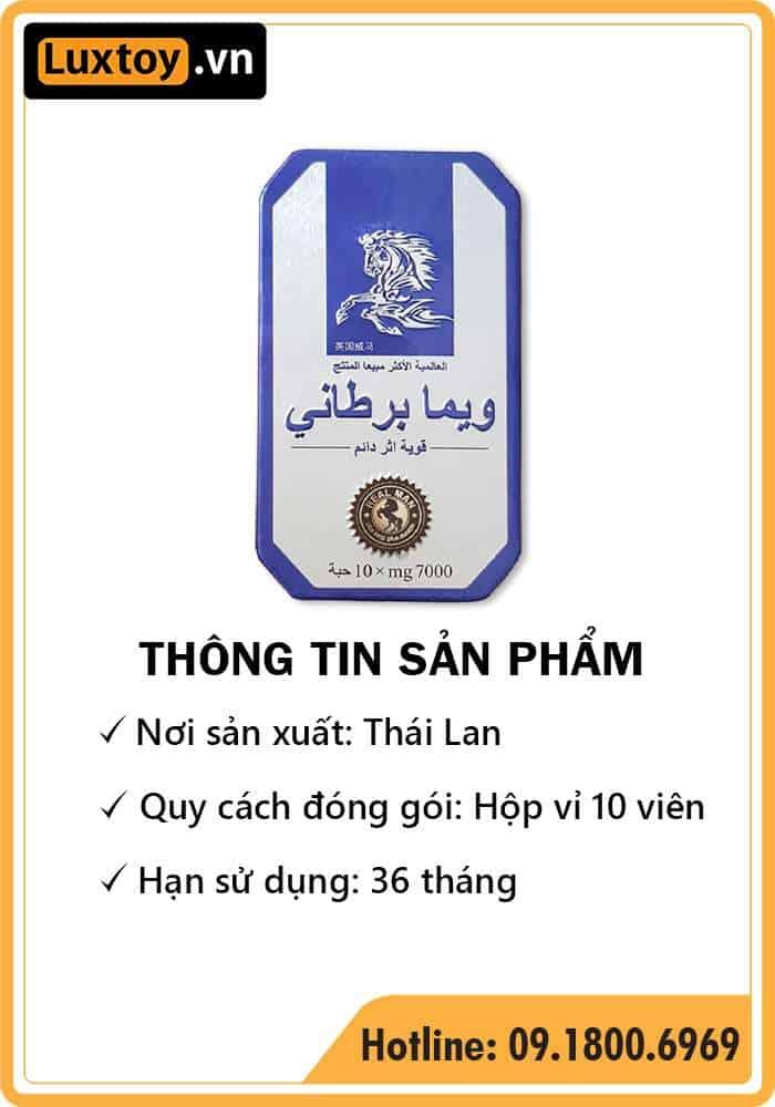 thông tin sản phẩm thuốc cường dương Ngựa Thái