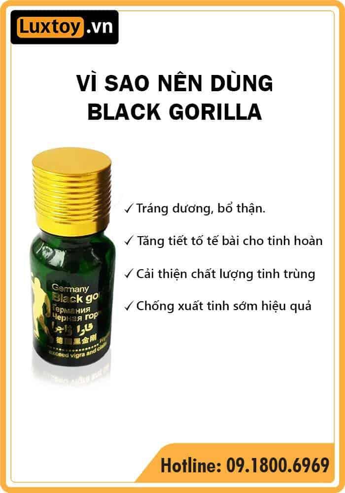 Thuốc cường dương Black Gorilla có tốt không