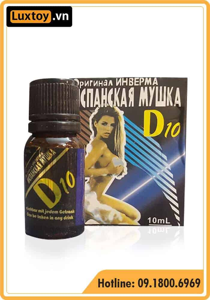 Review đánh giá thuốc kích dục nữ D10 Nga