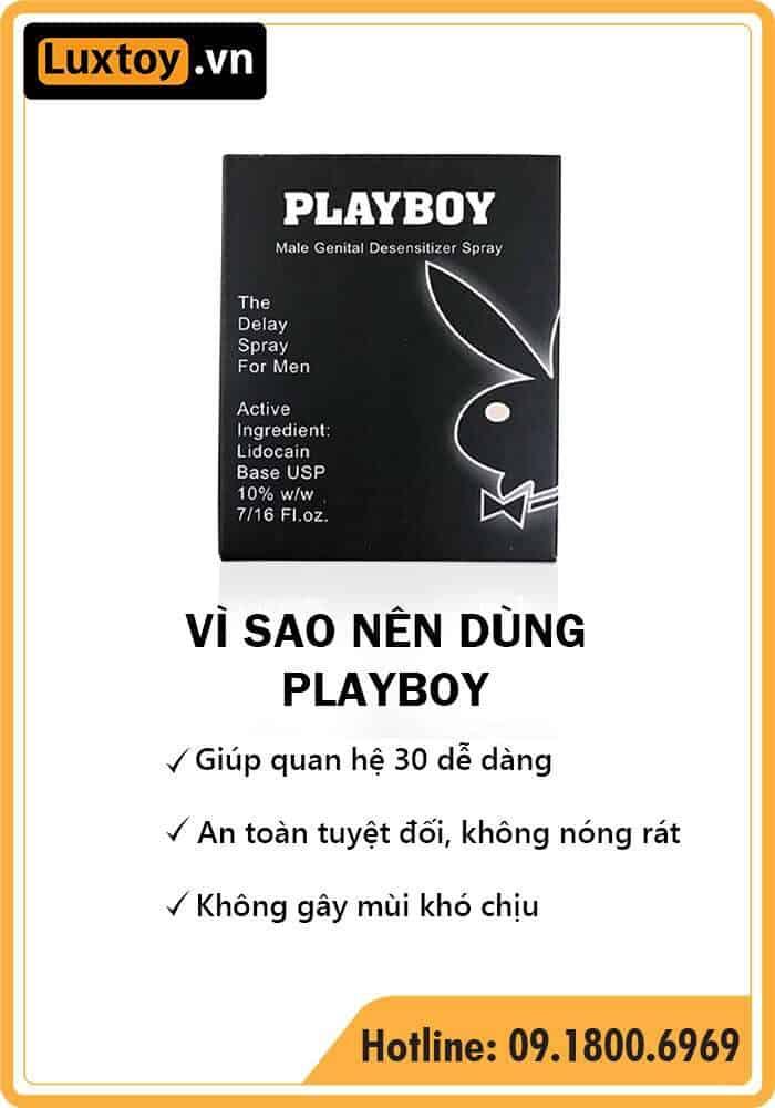 thuốc tê dạng xịt Playboy có tốt không