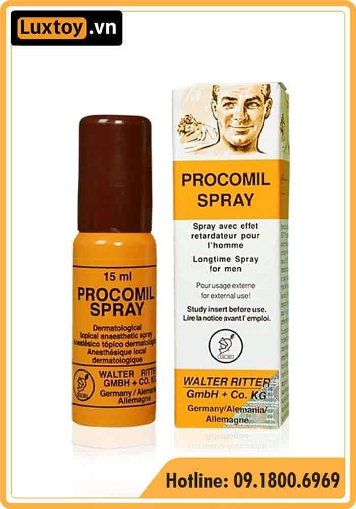 thuốc tê dạng xịt Procomil Spray