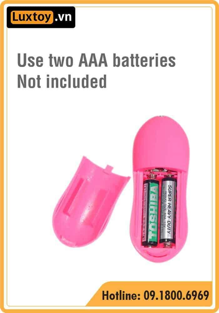 trứng rung Angel Baby sử dụng 2 pin AAA