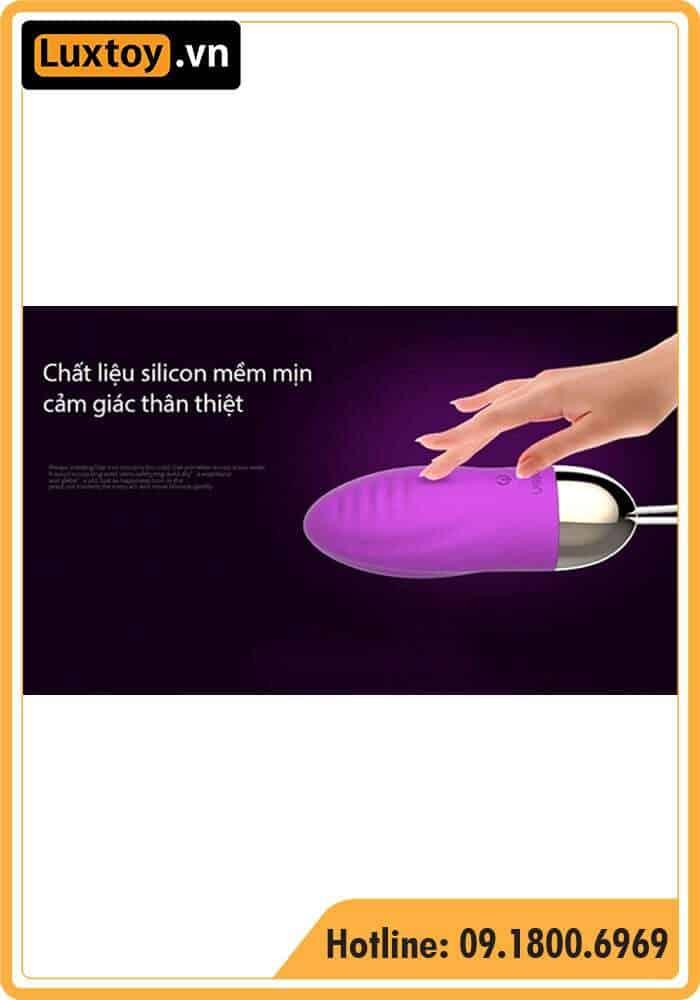 Trứng rung Silicon Leten Surge mềm mịn như thật