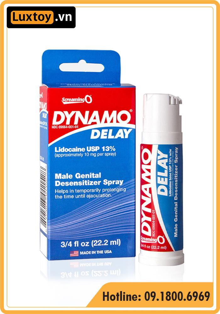 Thuốc xịt cường dương Mỹ Dynamo Delay